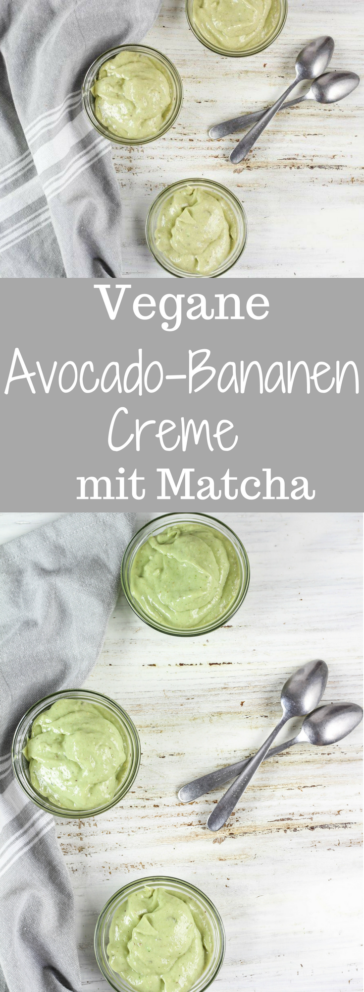 Vegane Avocado Banane Creme mit Matcha in 2019 Imogti