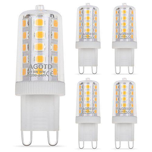 Bombillas LED G9 4W AGOTD 28W 33W 40W Equivalente de Luz Hal³gena