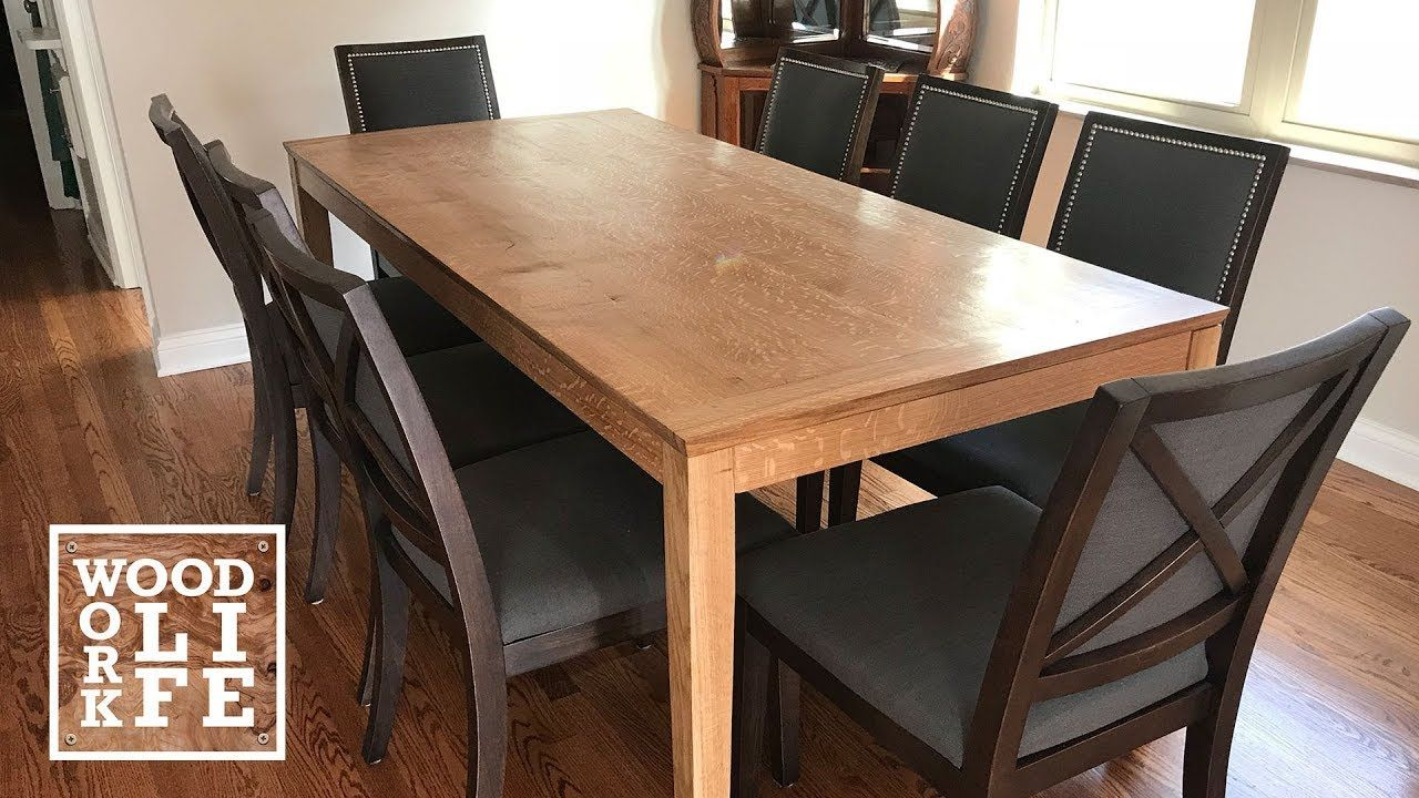 Diy White Oak Shaker Style Dining Table Builds Huis Ideeen Huis