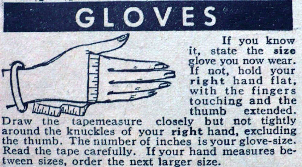 How to measure your hands for glove size vintage shopping