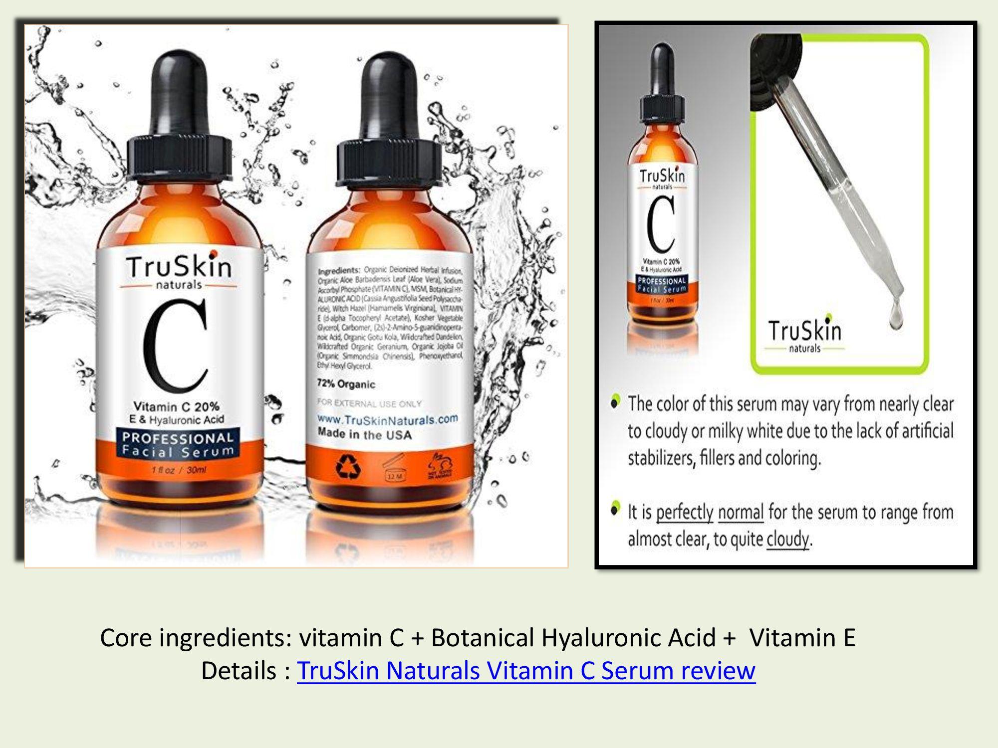Truskin naturals vitamin c serum review 2018 Impressive