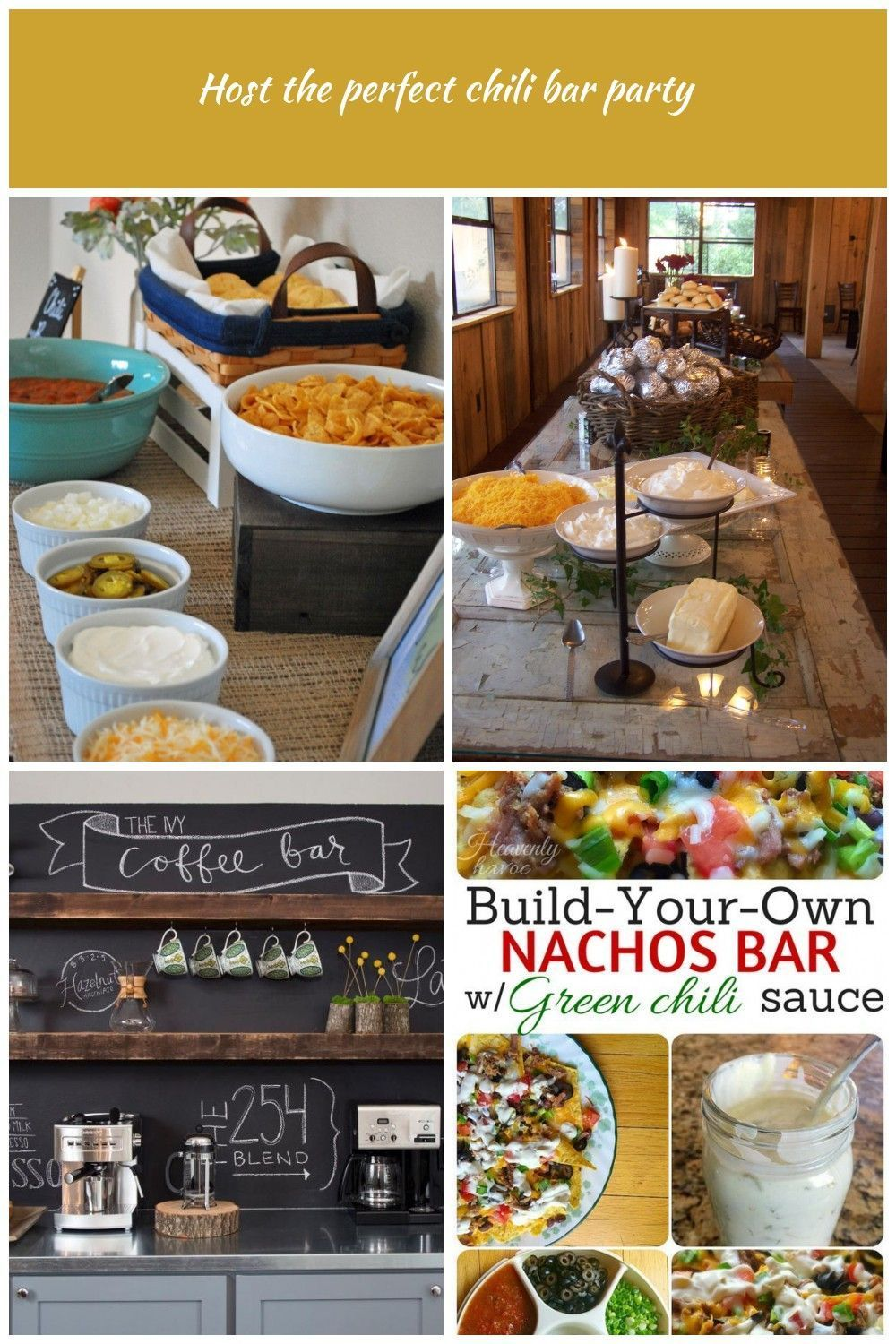 How to host the perfect fall chili bar party with awesome ideas for toppings and a cute