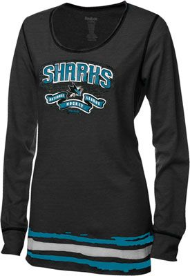 San Jose Sharks Women s Black Reebok Tri-Blend Long Sleeve T-Shirt ... 93530a0774
