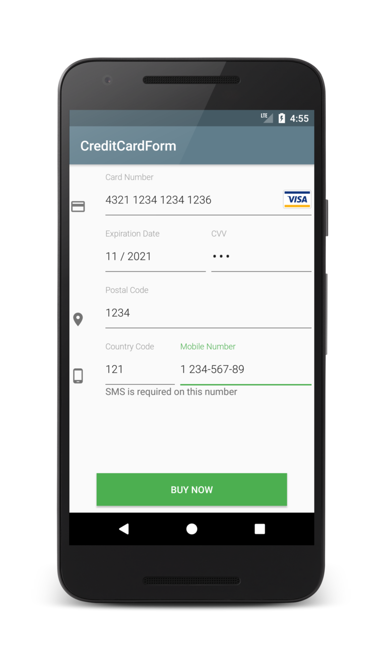 Android Credit Card Form Tutorial  Android Tutorials