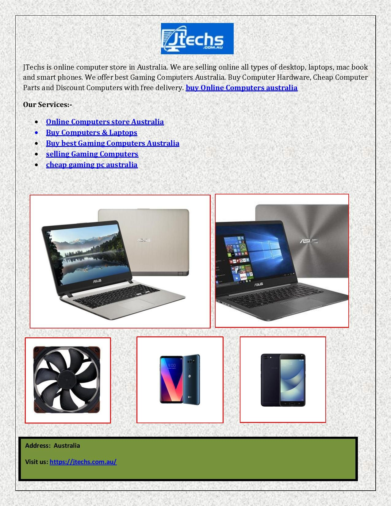 Computer Online Store Jtechs Is Online Computer Store In Australia We Are Selling