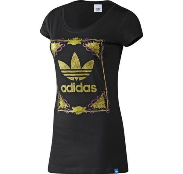 Adidas Originals Womans Decadence Tee Black 6 14 £17.99 FREE