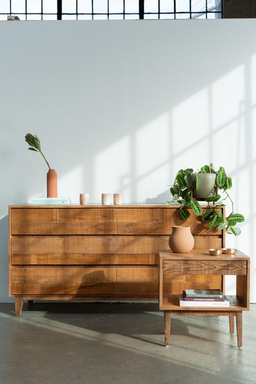 Natural Wood Dresser 3 DRAWER Reclaimed wood dresser