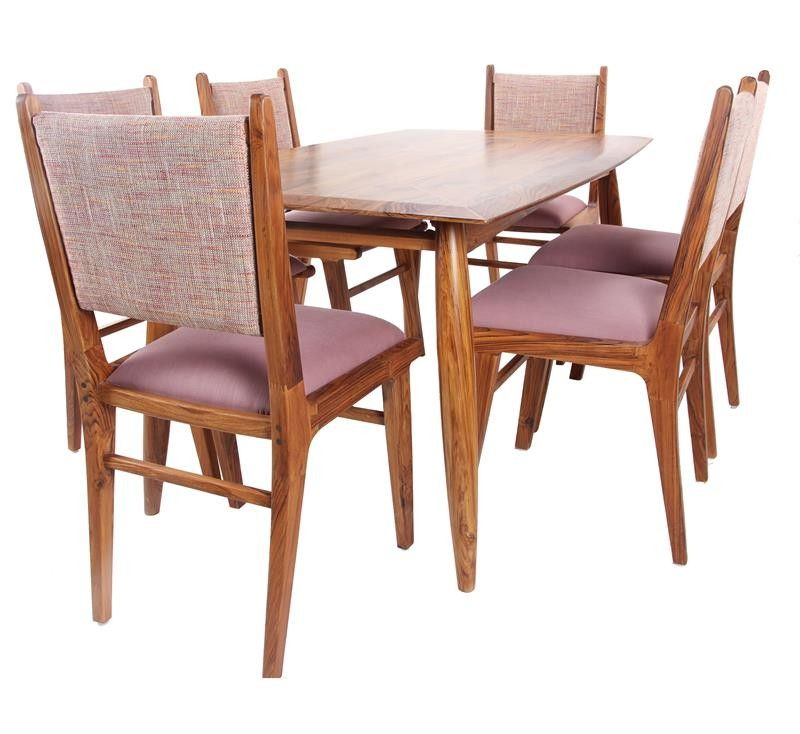 Vibhu Six seated dining table Solid Wood Teak Wood Contemporary