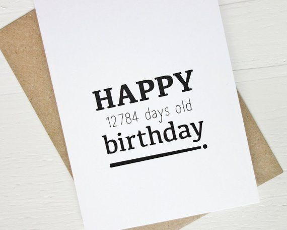 35th Birthday Card Funny Happy 12784 Days For 35 Year Old
