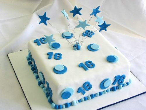 Elegant Square Cake 18th Birthday Birthday Cake Ideas Pinterest