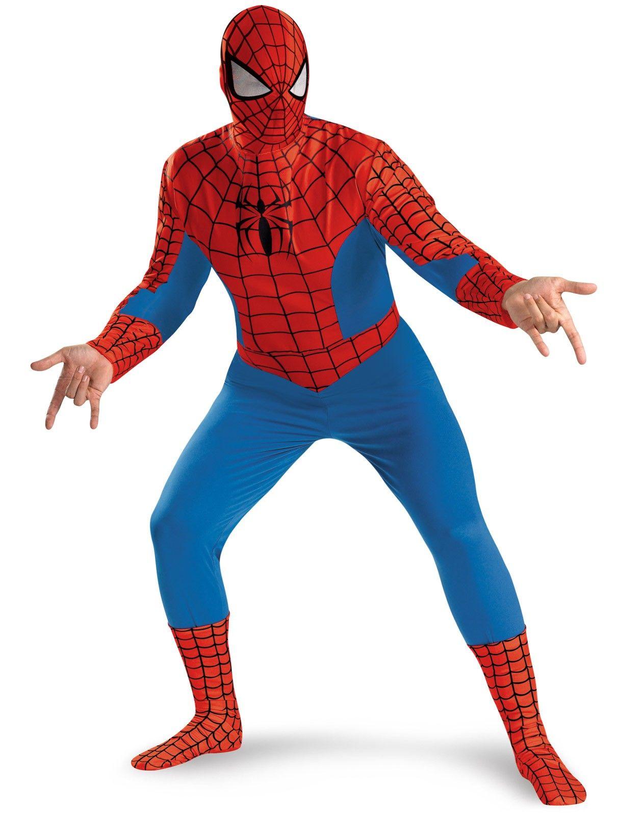 SpiderMan Deluxe Adult Men/'s Mask Disguise Cosplay Hood Costume Halloween Toy