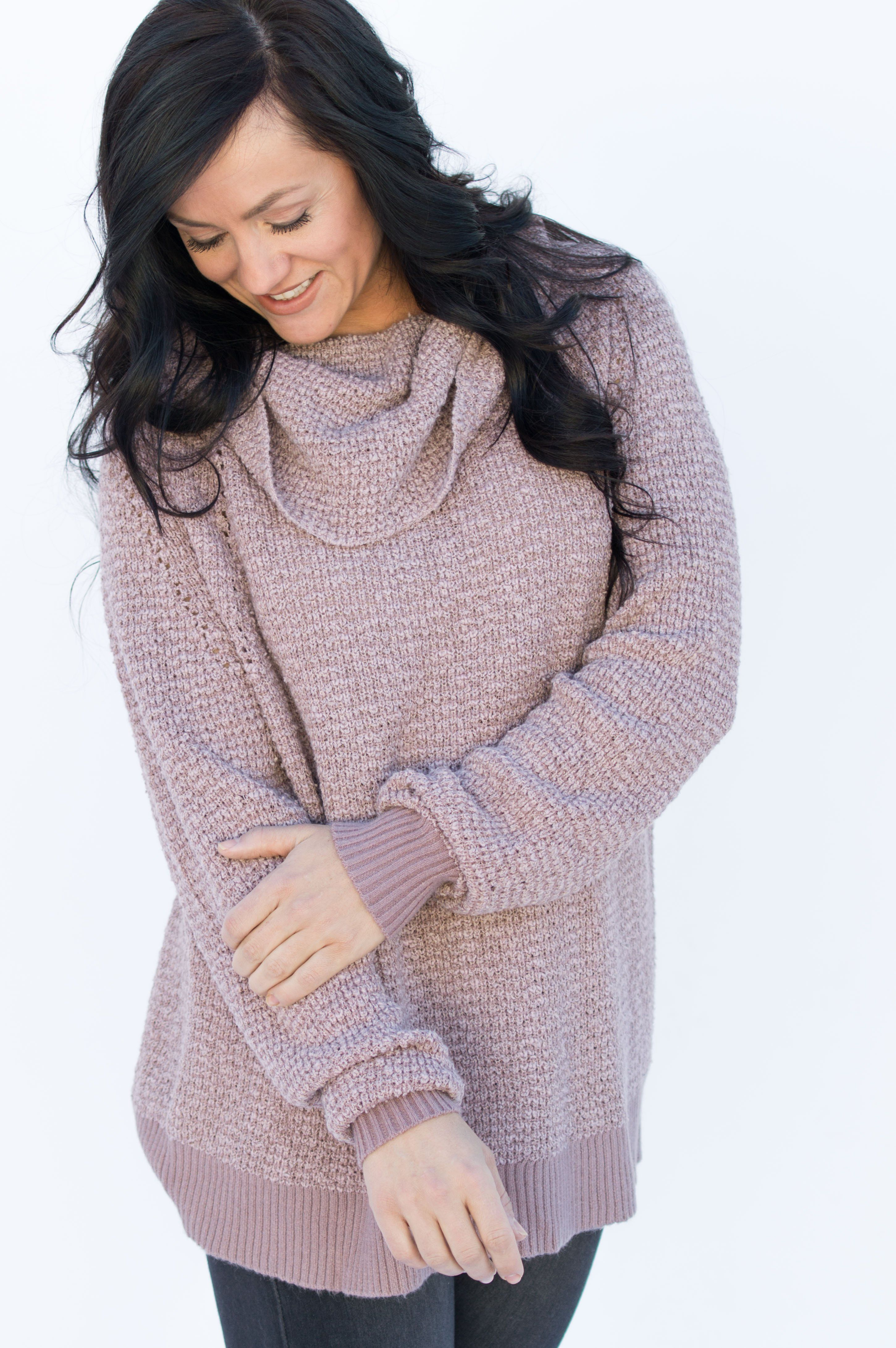 Free People By Your Side Mauve Sweater Ob754970 Products By Your