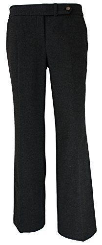 Calvin Klein Womens Classic Fit Dress Pants Heather Charcoal 4 x 33L