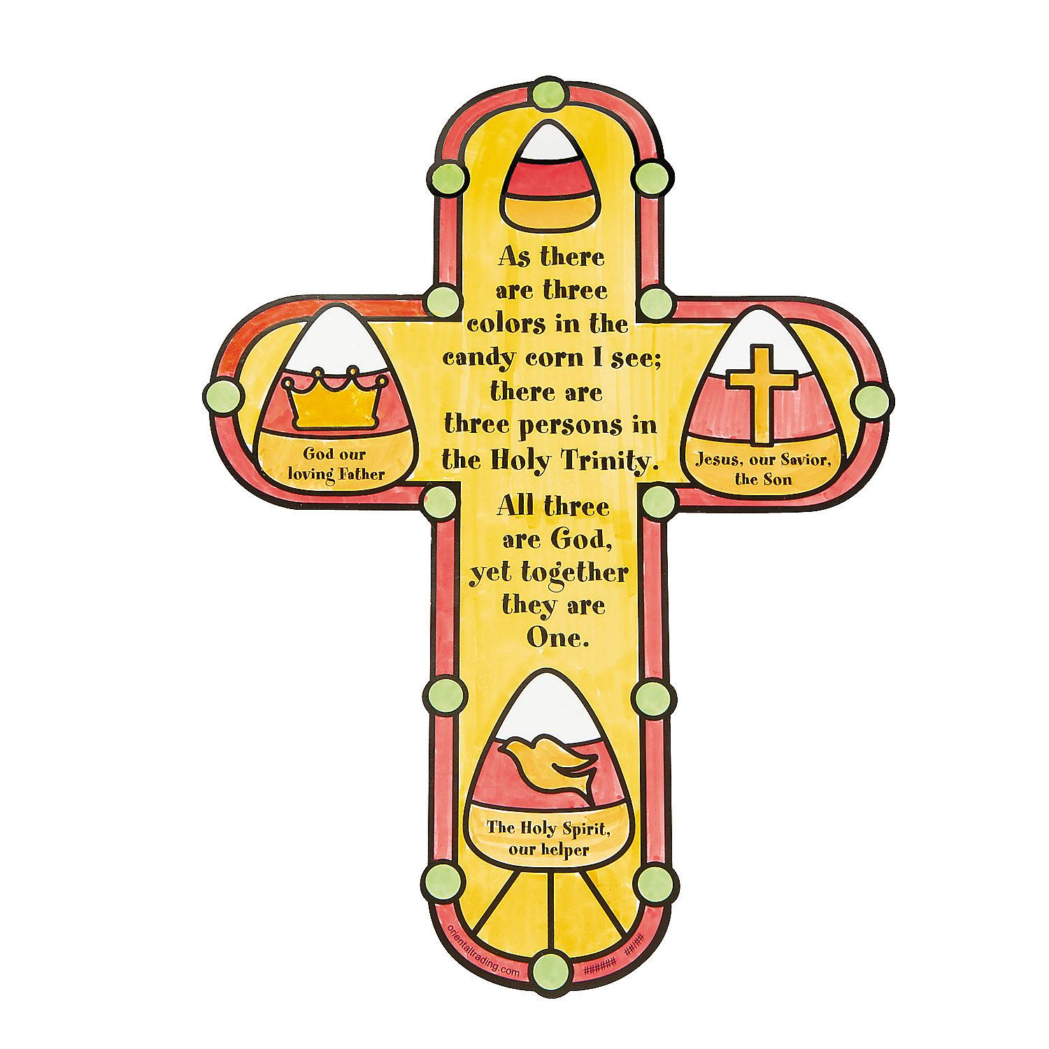Color Your Own Candy Corn Trinity Cutouts Orientaltrading Com