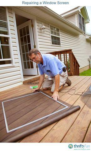 Repairing a Window Screen | Life-helper Tips