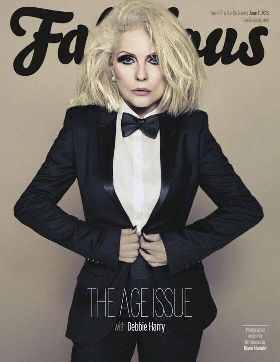 Debbi of Blondie on Fabulous magazine cover June 2013