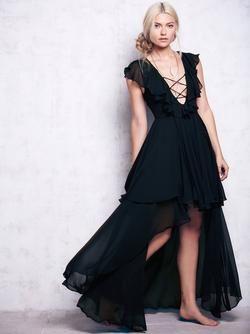Flounced Criss-Cross Dress