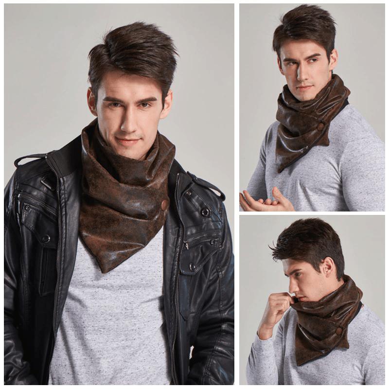 écharpe cuir leather ch¢le shawl scarf color couleur men homme dope