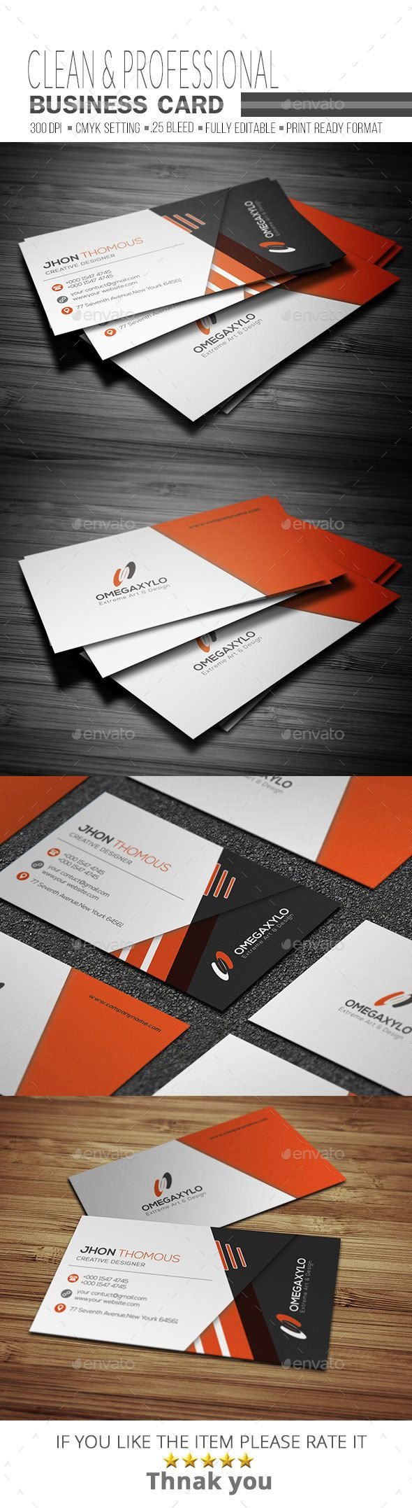 Corporate Business Card Template PSD. Download here: https://graphicriver.net/item/corporate-business-card/17624739?ref=ksioks