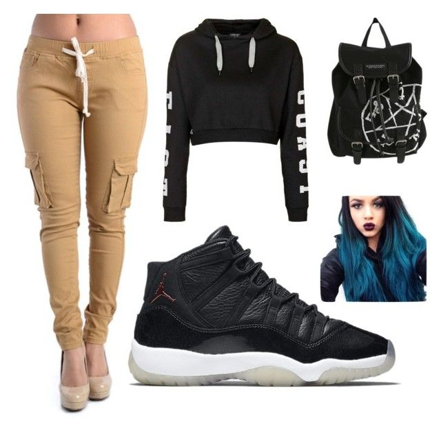"""""""School #vibes"""" by yeirygoodvibes ❤ liked on Polyvore featuring мода, Topshop, NIKE, women's clothing, women, female, woman, misses и juniors"""
