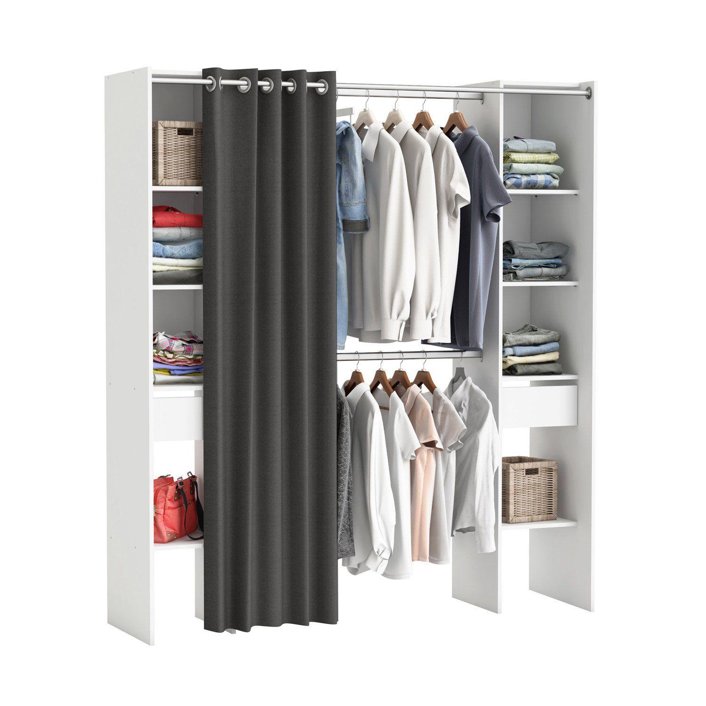 Kit Dressing Blanc Star H 203 X L 180 X P 50 Cm Dressing Blanc Rangement Dressing Et Dressing Chambre Ado