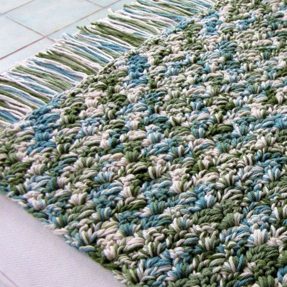 CUSTOM Mid Century Style Cotton Rug (Made to Order)