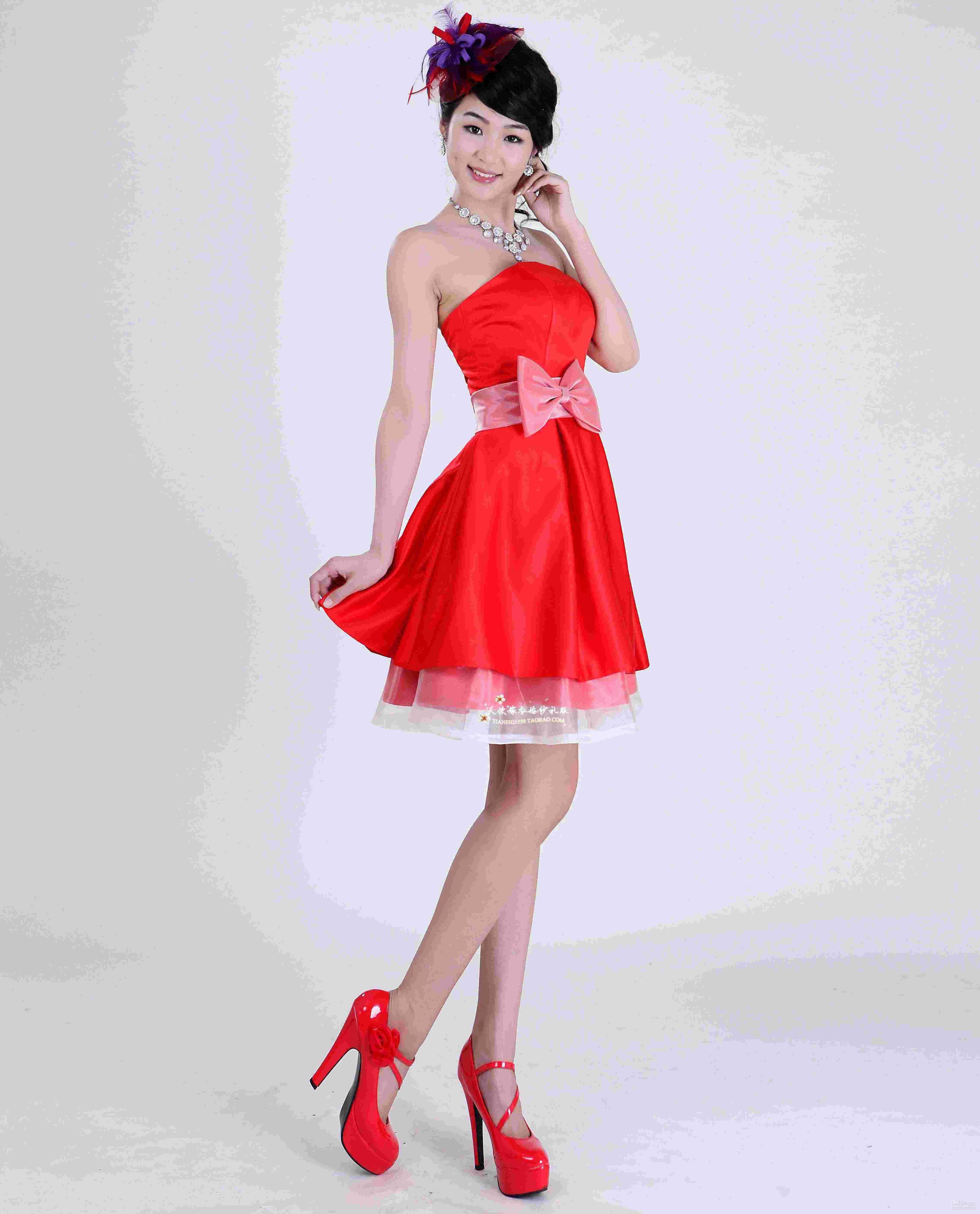 short red bridesmaid dresses ebay | Top 50 Short-Red Bridesmaid ...