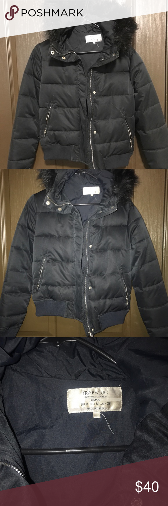 Navy Puffer Jacket Navy Blue Puffer Jacket With A Black Fur Trim On Hood It Is Very Warm And Cozy It Was Purchased Jackets Puffer Jackets Blue Puffer Jacket [ 1740 x 580 Pixel ]