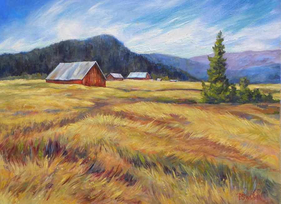 Easy Farm Landscape Painting Google Search Painting