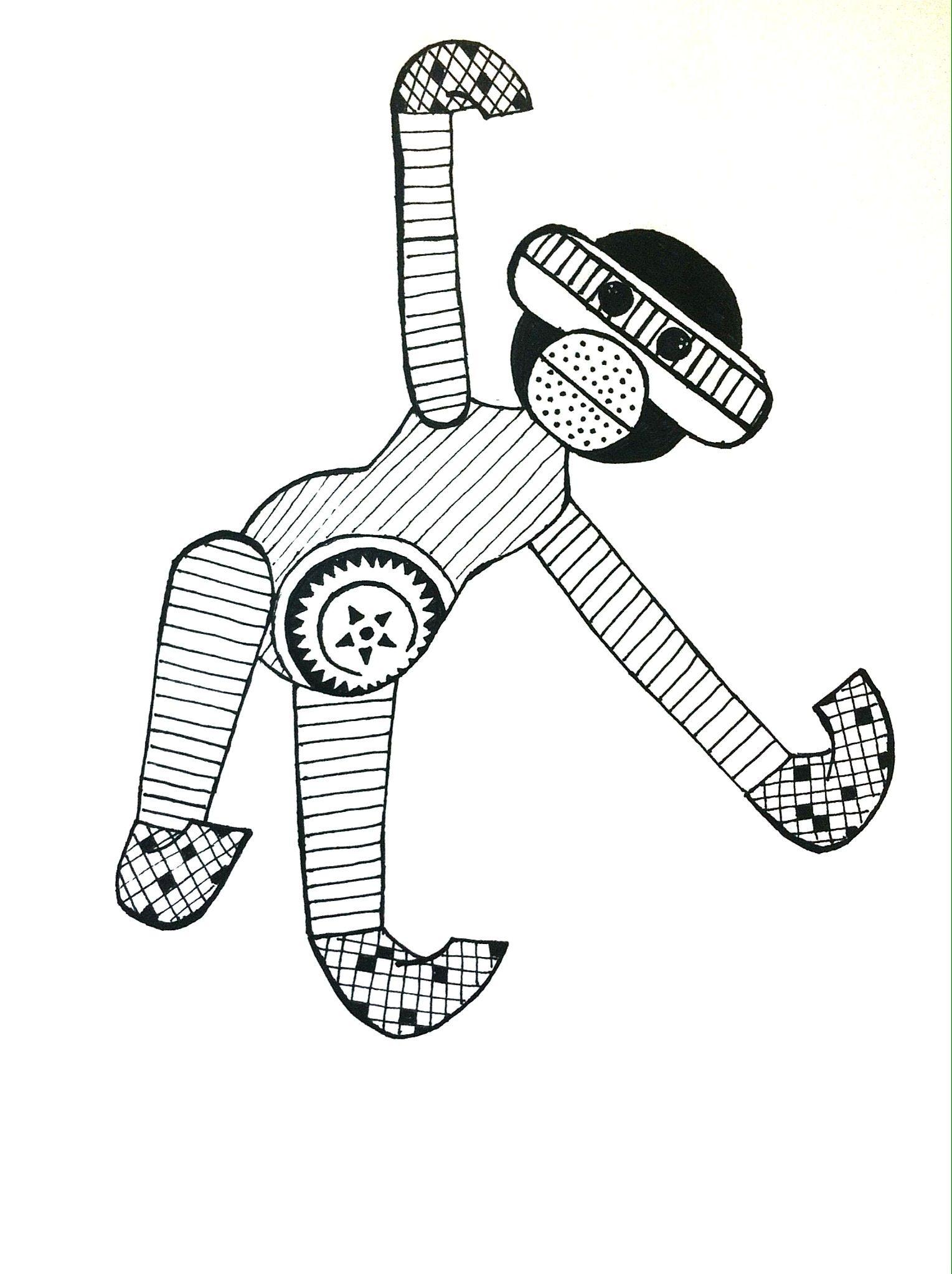 Monkey Inspired By Kaj Bojesen