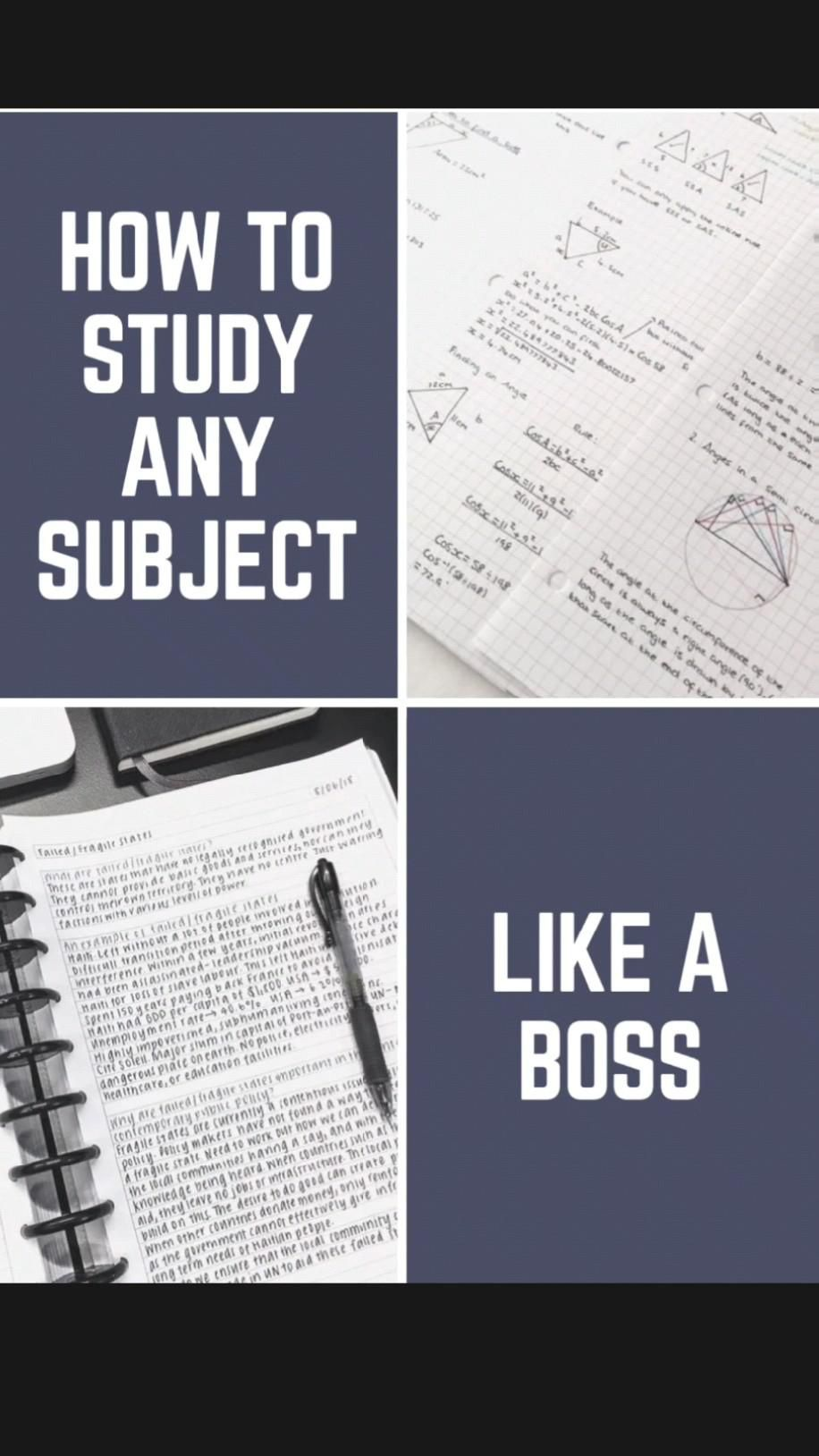 How to #study any subject like a boss.