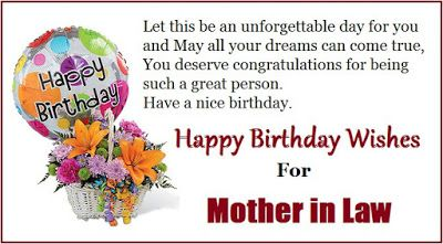 Happy Birthday For Mother In Law Wishes Cards Of All Occasions