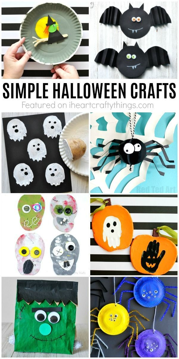 Simple Halloween Crafts Kids will Love! I Heart Crafty Things - homemade halloween decorations kids