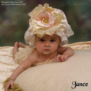 Victorian style lace shower cap with flower by ElenaCollectionUSA, $35.00