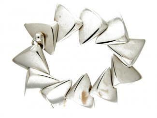 Hans Hansen Silver Scale Bracelet