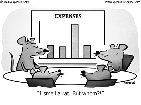 Sniffing Out the Problem with Your Business Expenses - Small Business  Trends | Small business trends, Business cartoons, Divorce and kids