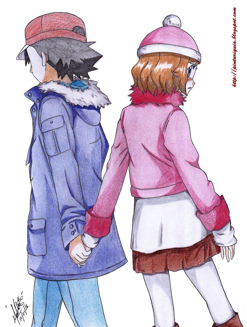 Pokemon X Y Satoshi Y Serena Love By Shinamvecdeviantart