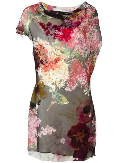 f58fcbd6ef0 LANVIN Draped Detail Floral Dress.  lanvin  cloth  dress