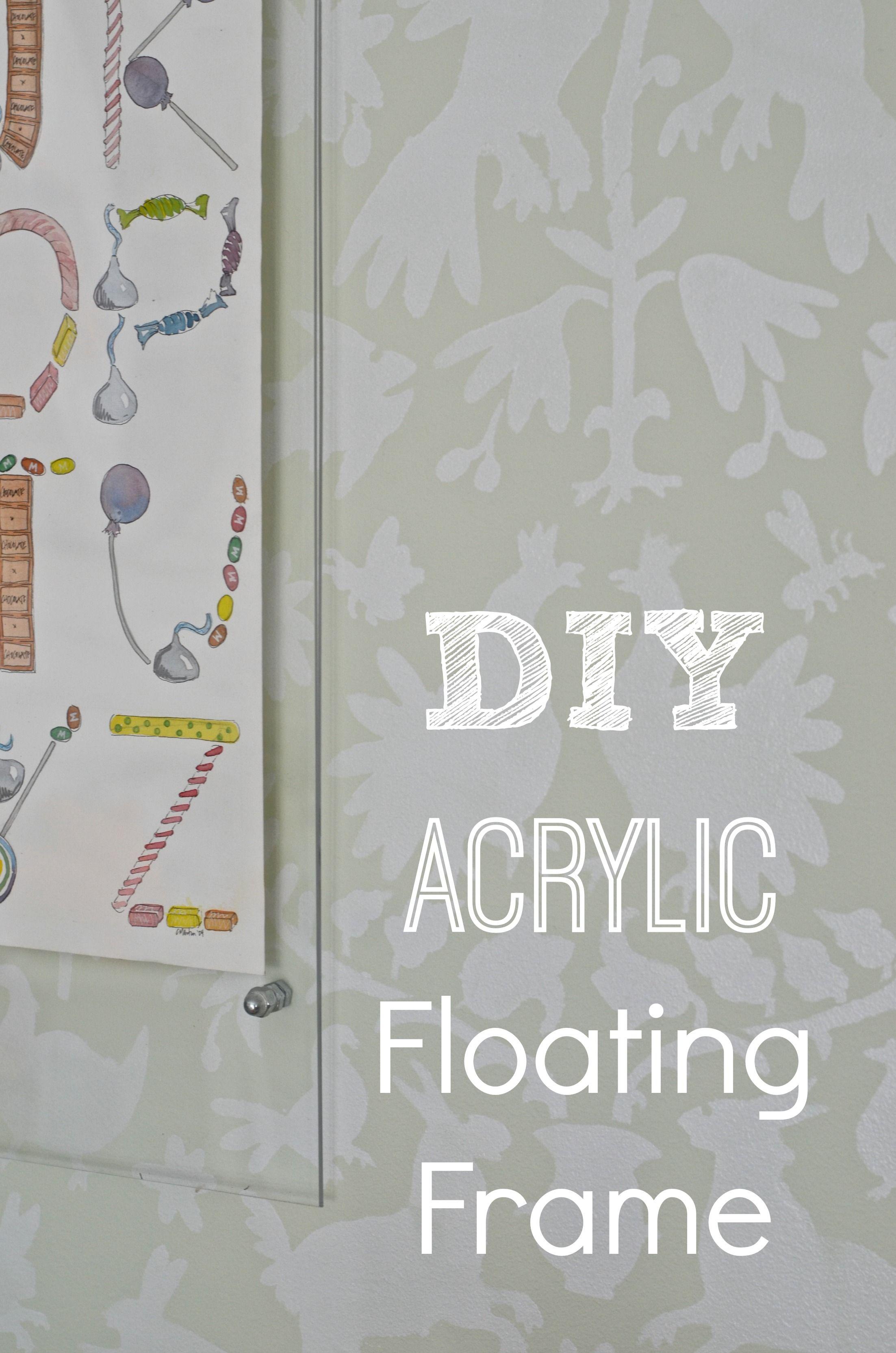 Budget Floating Acrylic Frame | Acrylic frames, Budgeting and Acrylics