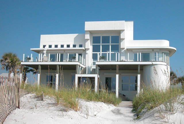 Art Deco Home pensacola-beach, mexico. art deco beach house. check out the