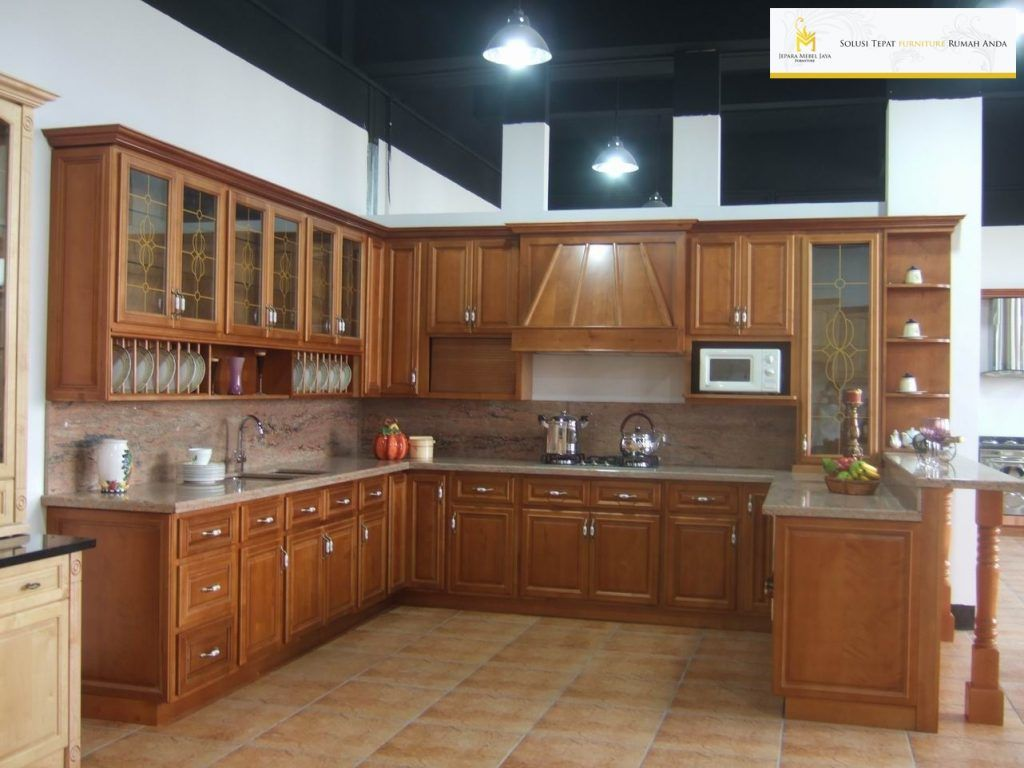 Kitchen set minimalis kayu jati terbaru kitchen set for Kitchen set kayu