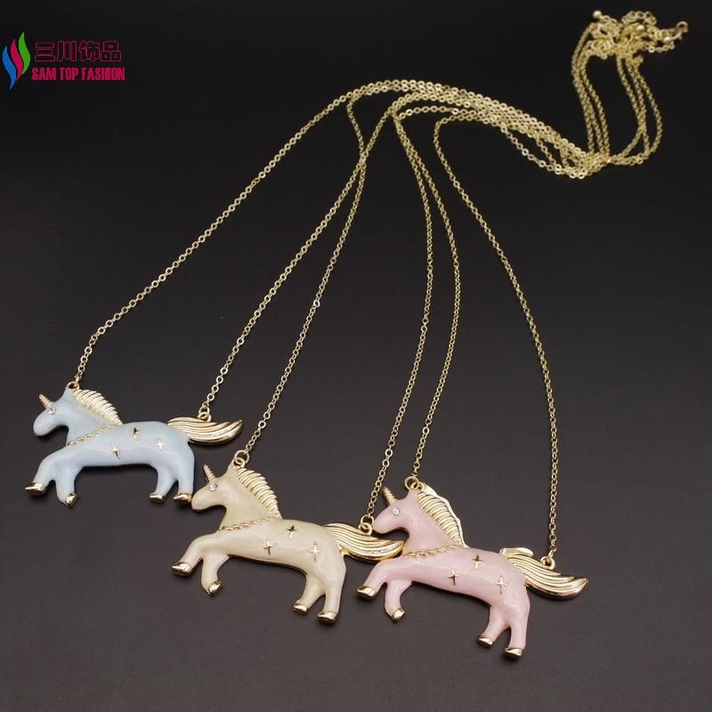 Find More Pendant Necklaces Information about Lovely Unicorn Pendant Fashion Vivid Cute Enamel Animal Long Necklaces & Pendants for Women accessories collar bijoux,High Quality pendant silver,China pendant accessories Suppliers, Cheap pendant chain necklace from 7Seven Fashion Min.$15 on Aliexpress.com
