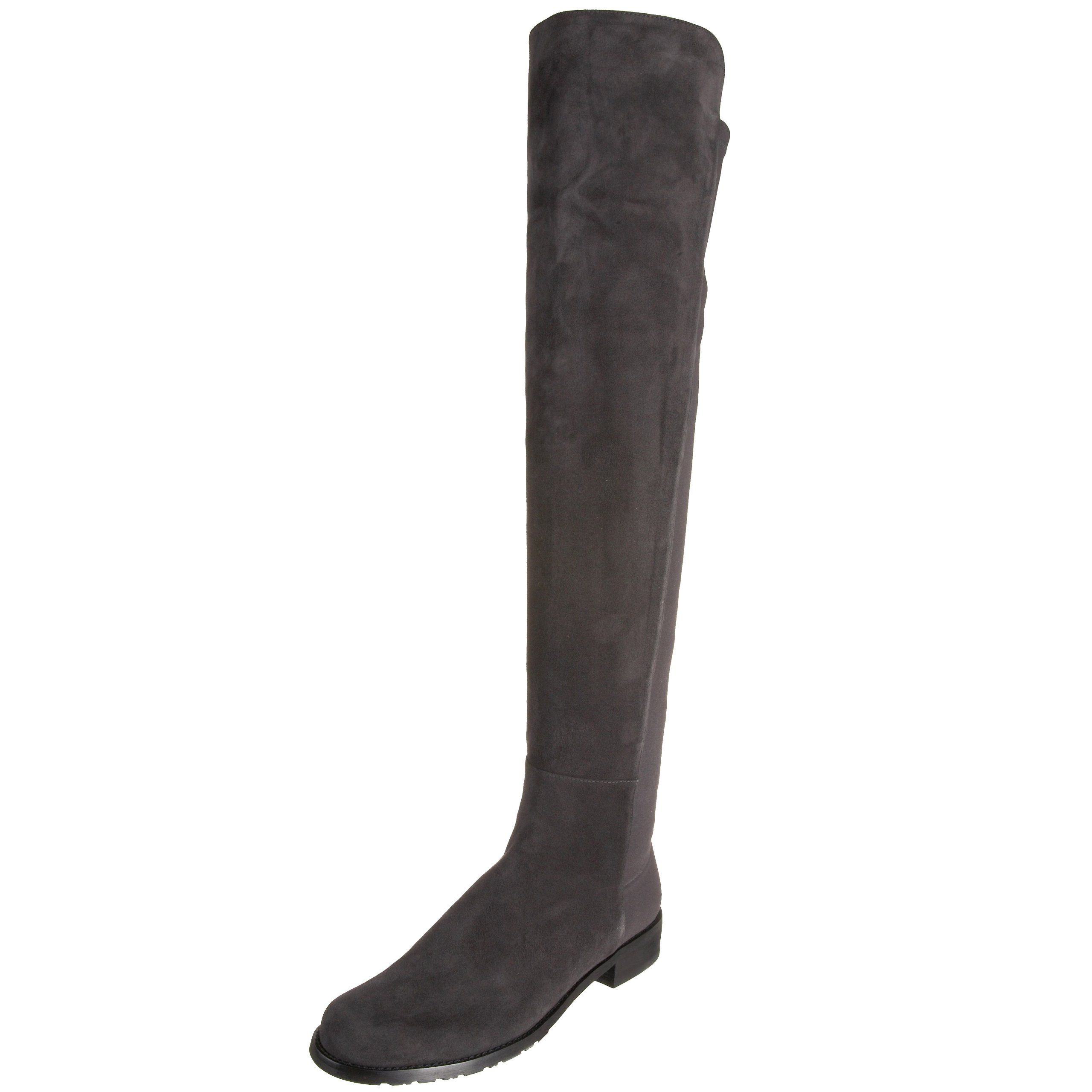19798e4d9ed45 Stuart Weitzman Women's 5050 Over-the-Knee Boot,Anthracite Suede,9 M ...