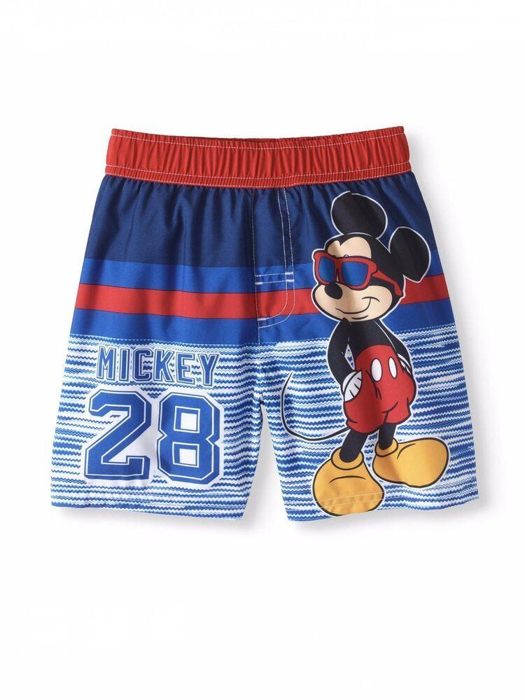 aadb42e9593f5 Disney Junior Mickey Mouse Boys Netted Swim Trunks 5T Mickey Roadster Racer    eBay