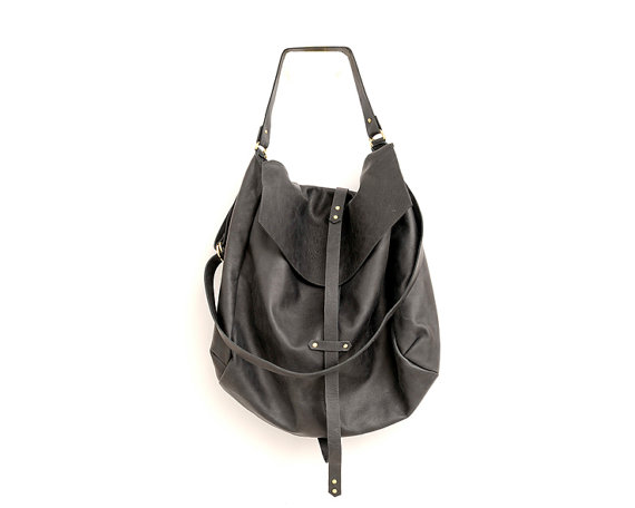 Black Leather Hobo Bag Extra Large Fashion Handbag Genuine Soft A Specially Go Kay Designer Oversized