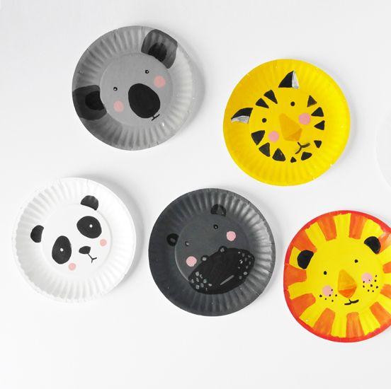 DIY Animal Paper Plate Faces  sc 1 st  Pinterest & DIY Animal Paper Plate Faces   craft work   Pinterest   Paper plate ...
