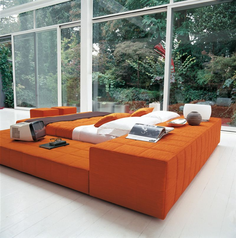 Squaring de Bonaldo. Muebles de diseño. | Camas | Arancione