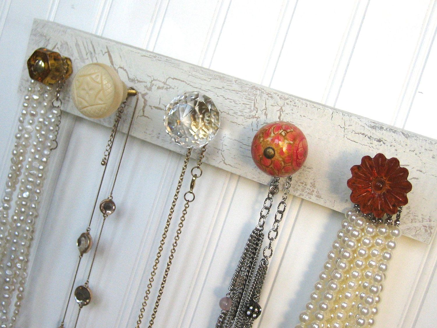Hanging+Jewelry+Rack+/+Necklace+Organizer+in+by+AuntDedesBasement,+$32.00