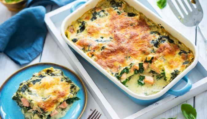 Natürlich & Bewusst Lachs-Spinat Lasagne #spinatlasagne Lachs-Spinat Lasagne #spinatlasagne