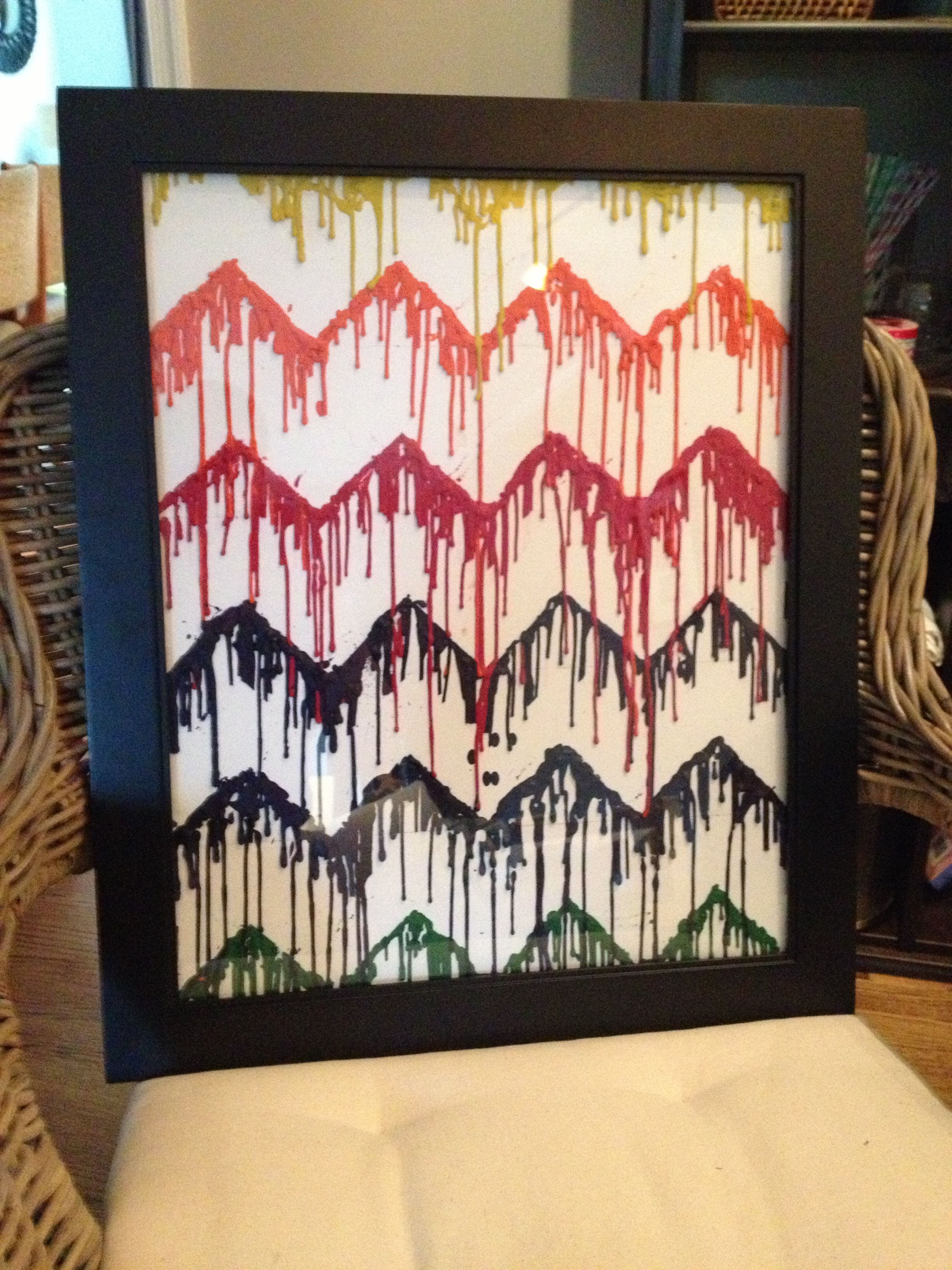 Melted Crayon Chevron Project